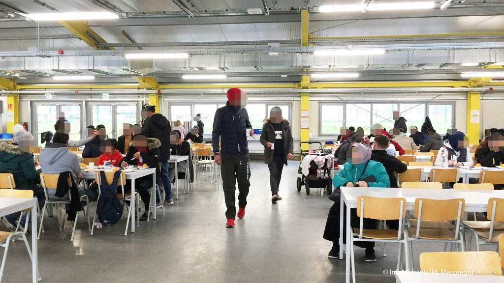 From file: The canteen at the anchor center for asylum seekers in Bamberg, Germany | Photo: InfoMigrants/M. MacGregor