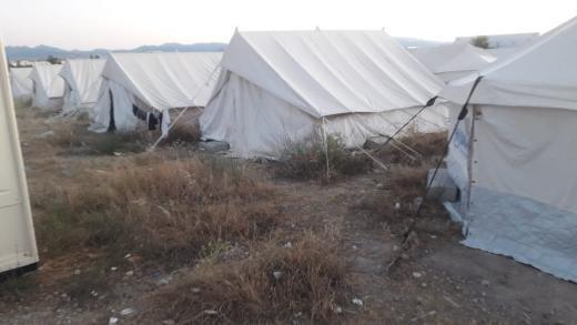 Le camp accueille plus de tentes qu'il aurait dû normalement en accueillir. Crédit : DR