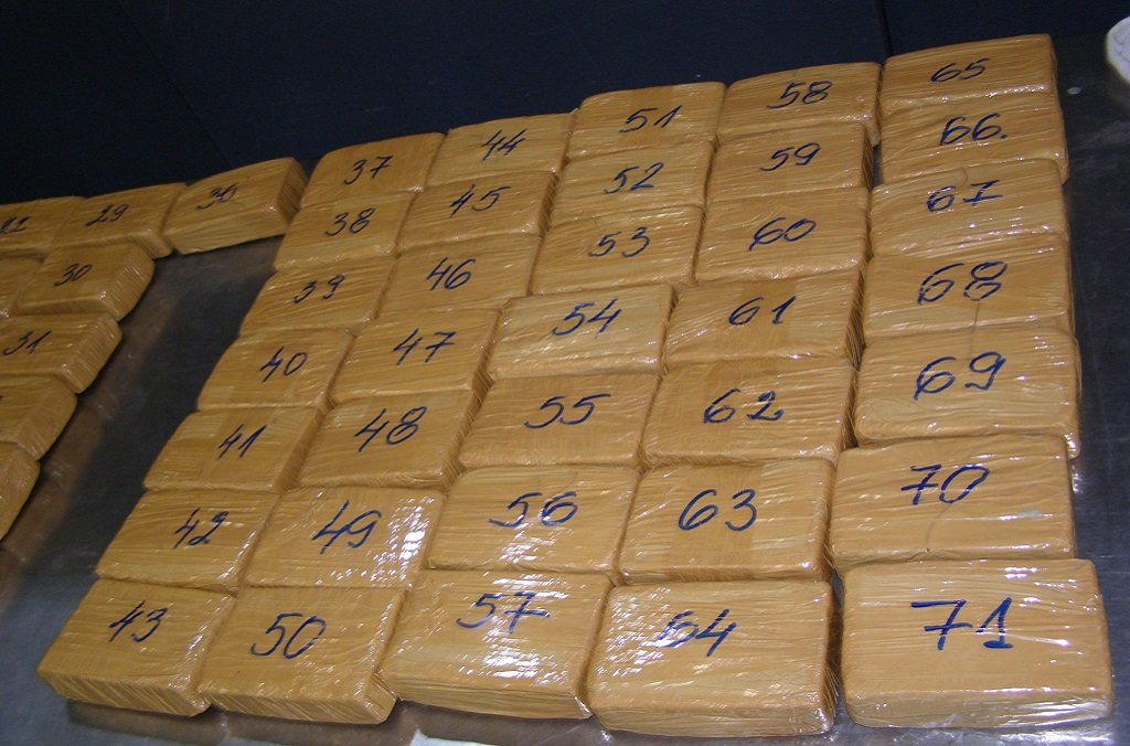 Officers during Operation Theseus recovered drugs and cash during raids | Photo: INTERPOL