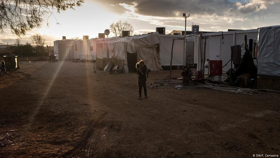 Ritsona camp was placed under lockdown in late March   Photo: DW/F.Campana