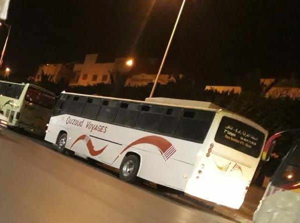 حافلة تنقل أكثر من 30 مهاجرا من الناظور نحول داخل المغرب/ الجمعية المغربية لحقوق الإنسان