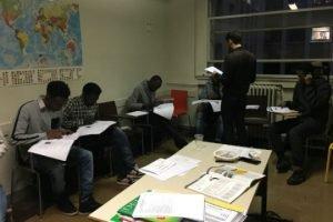 Thomas Lamouroux teaches a group of Thot students. Photo: Julia Dumont