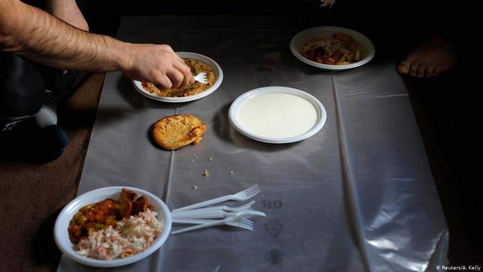 Residents share a meal provided by catering at Kaershovedgaard  Photo ReutersAKelly