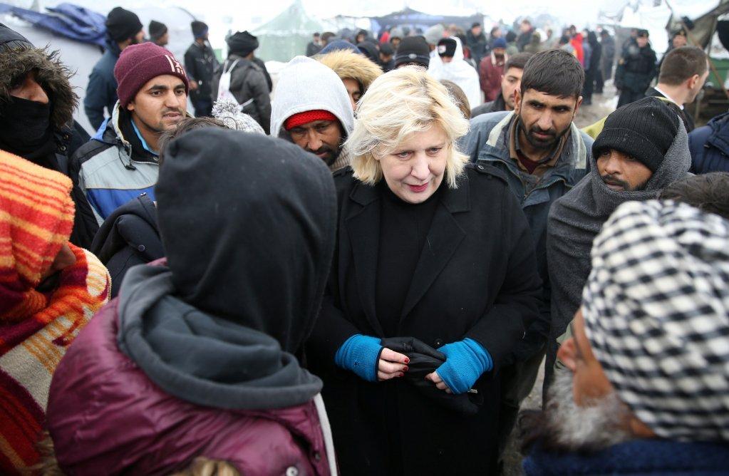 رییس حقوق بشر شورای اروپا در کمپ ووچیاک. عکس از رویترز