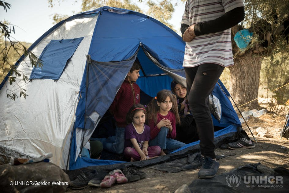 image caption Refugee arrivals to Lesbos island increased dramatically in August and September 2019  Credit UNHCRGordon Welters