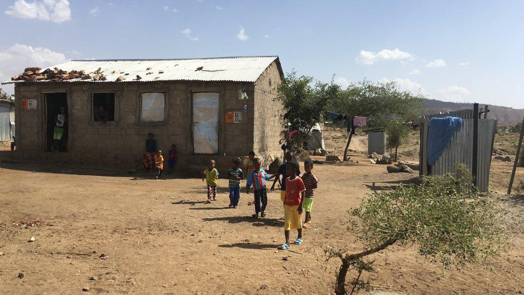 © RFI/Cécile Debarge |Le camp de réfugiés érythréens d'Hitsats, dans le nord de l'Ethiopie où se mène le programme de couloirs humanitaires.