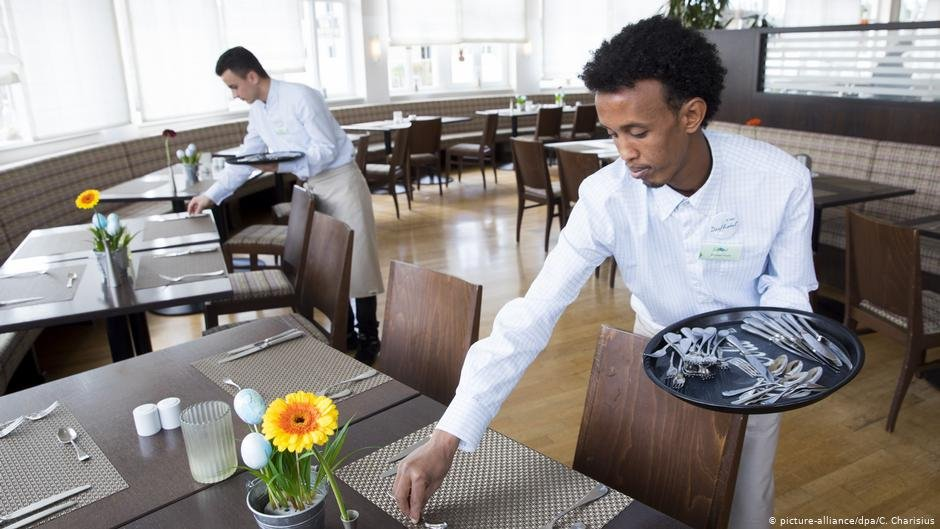 Refugees working at a hotel on the German island of Sylt  Photo Picture-alliancedpaCCharisius