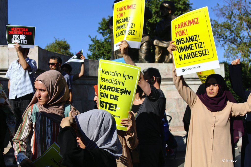 Protest in support of Syrian refugees in Istanbul on July 27, 2019 | Photo: Imago