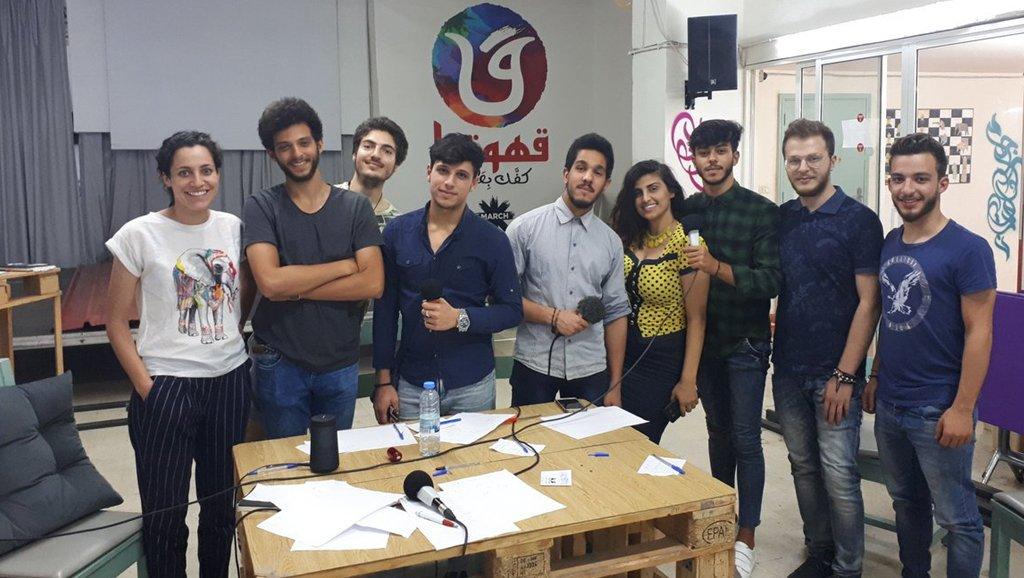 MicroCamp Radio |Les participants à l'atelier radio.