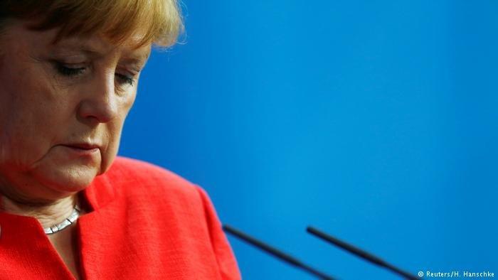 انگلا مرکل، صدر اعظم آلمان در نشست سران اتحادیه اروپا در بروکسل.
