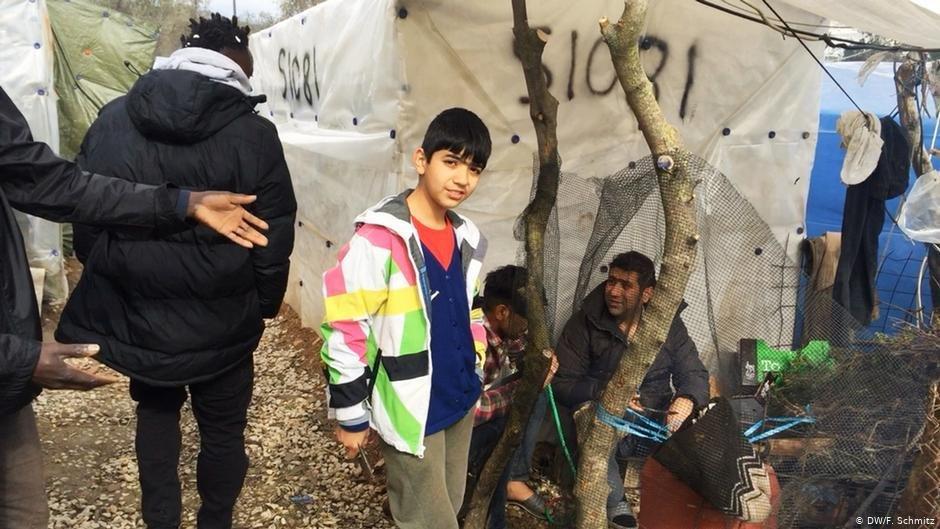 Dans le camp de Moria les conditions de vie sont particulirement difficiles pour les enfants  Photo DWFSchmitz