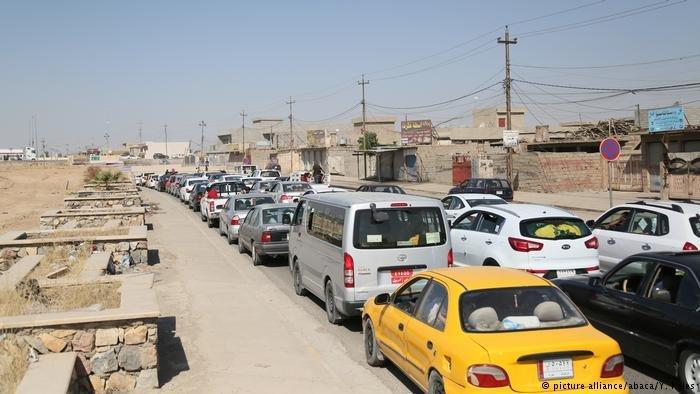 نزوح بعض سكان كركوك إلى السليمانية بعد سيطرة القوات العراقية على مدينتهم