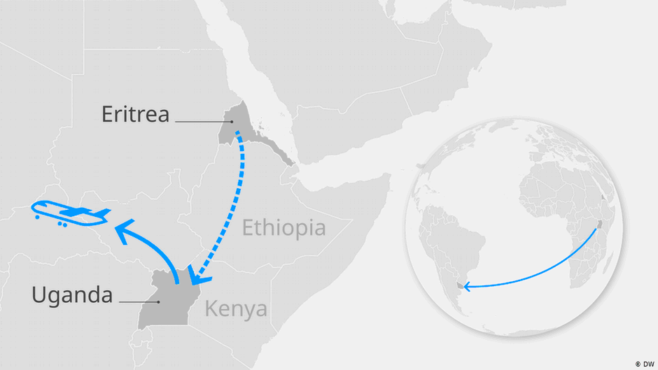 New migration route from Africa to South America  Credit DW