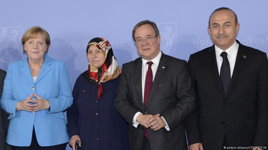 صدراعظم آلمان در دیدار با مولود چاووشاوغلو، وزیر امورخارجه ترکیه