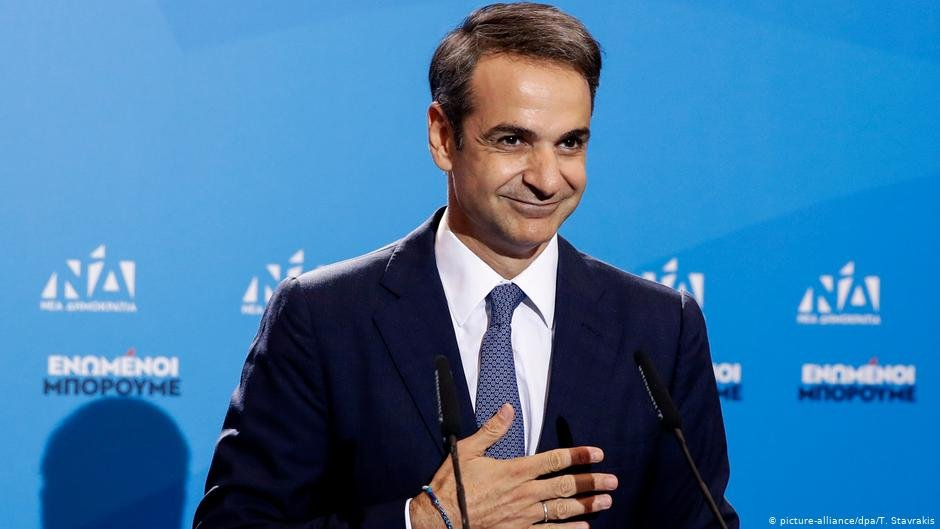 Prime Minister Mitsotakis promised to be tougher on immigration than his predecessor | COPYRIGHT: picture-alliance/dpa/T. Stavrakis