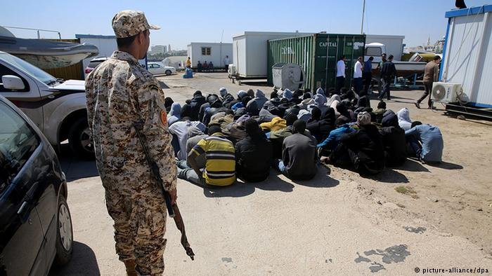 Migrants picked up by Libyan boats are kept in indefinite detention