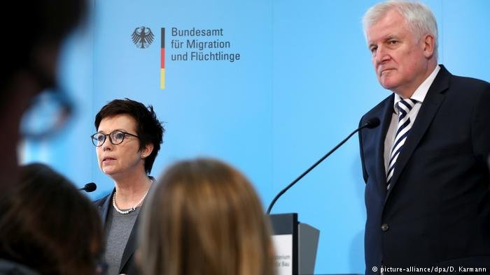 German Interior Minister Horst Seehofer and Head of the BAMF Office Julia Cordt
