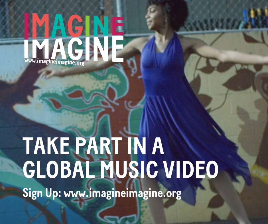 If you want to take part in a global music video you can sign up online Help with data uploads is possible  Source Imagine Imagine courtesy of IOM UK