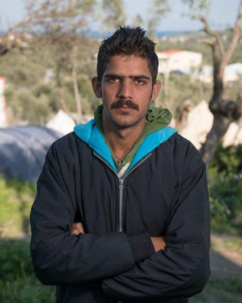 Daniel Sotra à son arrivée sur l'île de Lesbos, en mars 2016. Crédit : Darren Ell