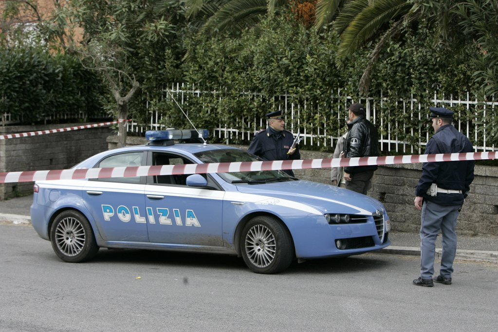 An Italian police car  Photo ARCHIVEANSA