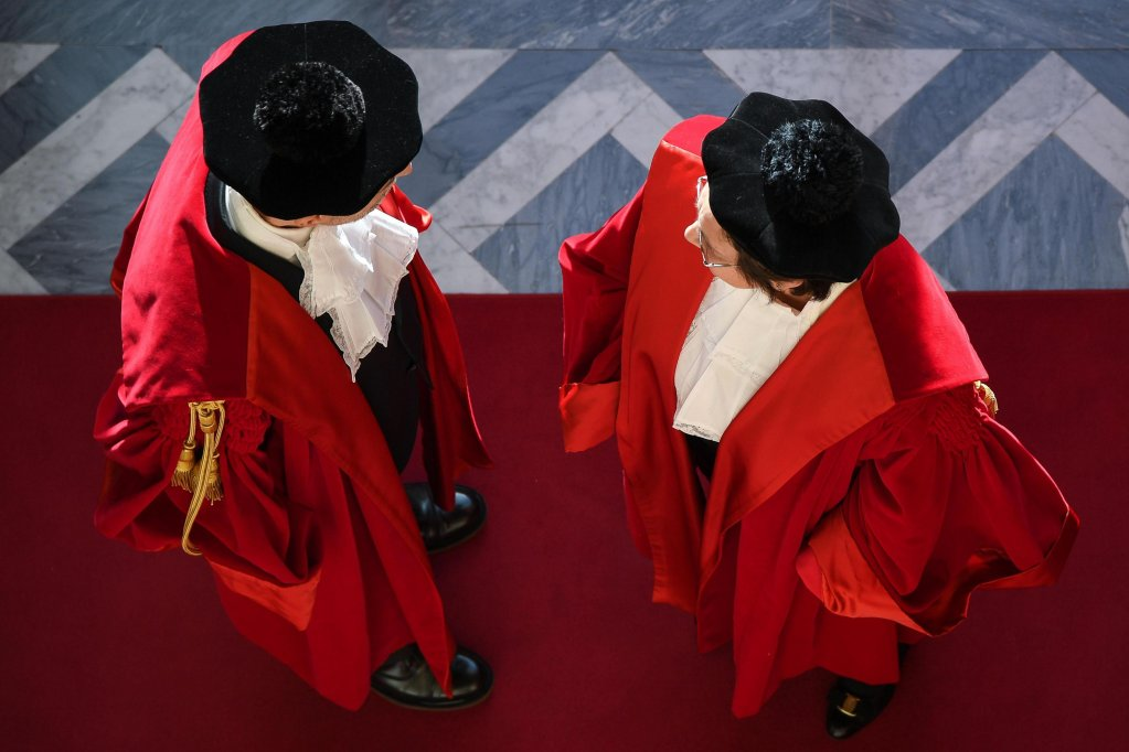 A scene from the inauguration of the annual Court of Cassation term in Rome  Credit ANSAALESSANDRO DE MEO