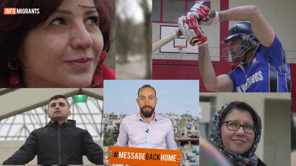 The first five protagonists of MessageBackHome are from Syria Afghanistan and Tajikistan