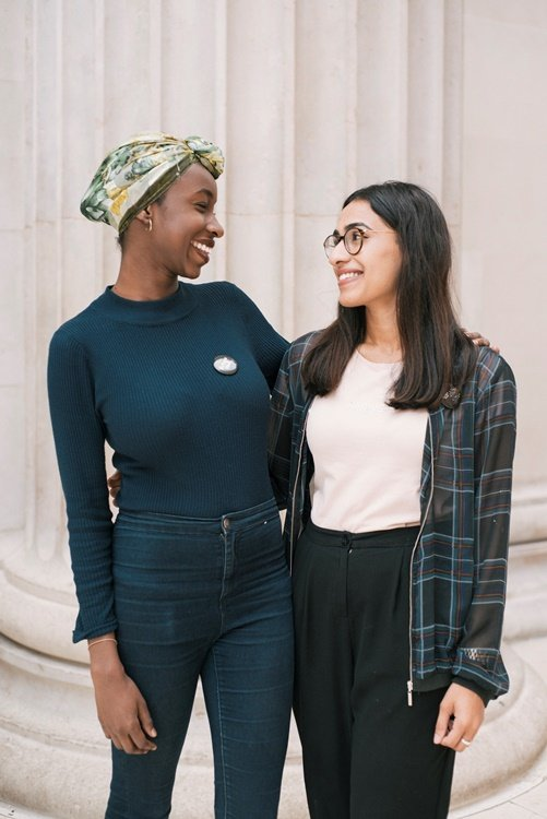 Mahnoor and Esra two Bristol residents  Photo IOM
