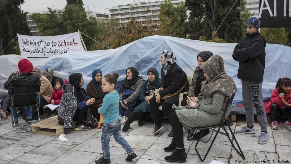 Refugees in Athens, Greece, protest for family reunification (November 2017)