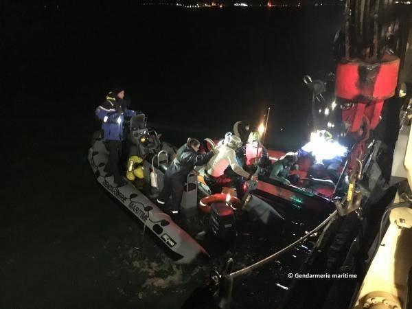 عملية انقاذ نفذتها البحرية الفرنسية في المانش وبحر الشمال 27 ديسمبر 2018| المصدر:  ©gendarmeriemaritime