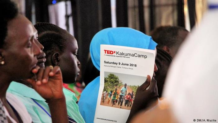 The first TEDx cconference in a refugee camp was an inspiration platform for the refugees living there now | Credit: DW/A. Wasike
