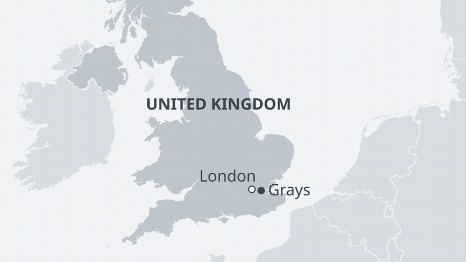 Map of Grays UK  Credit DW