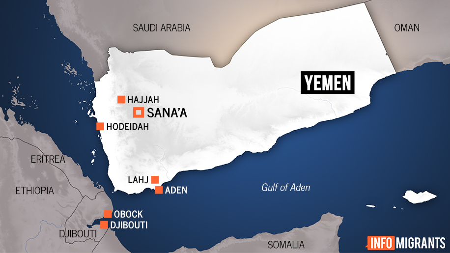 Map of Yemen  Credit InfoMigrants