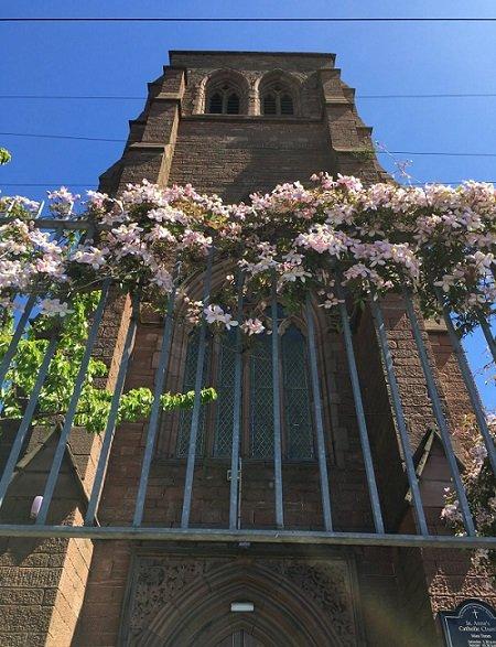L'association ALM est hébergée dans le presbytère d'une église à Liverpool. C'est ici que Caroline a trouvé refuge.  Crédit : Brenna Daldorph