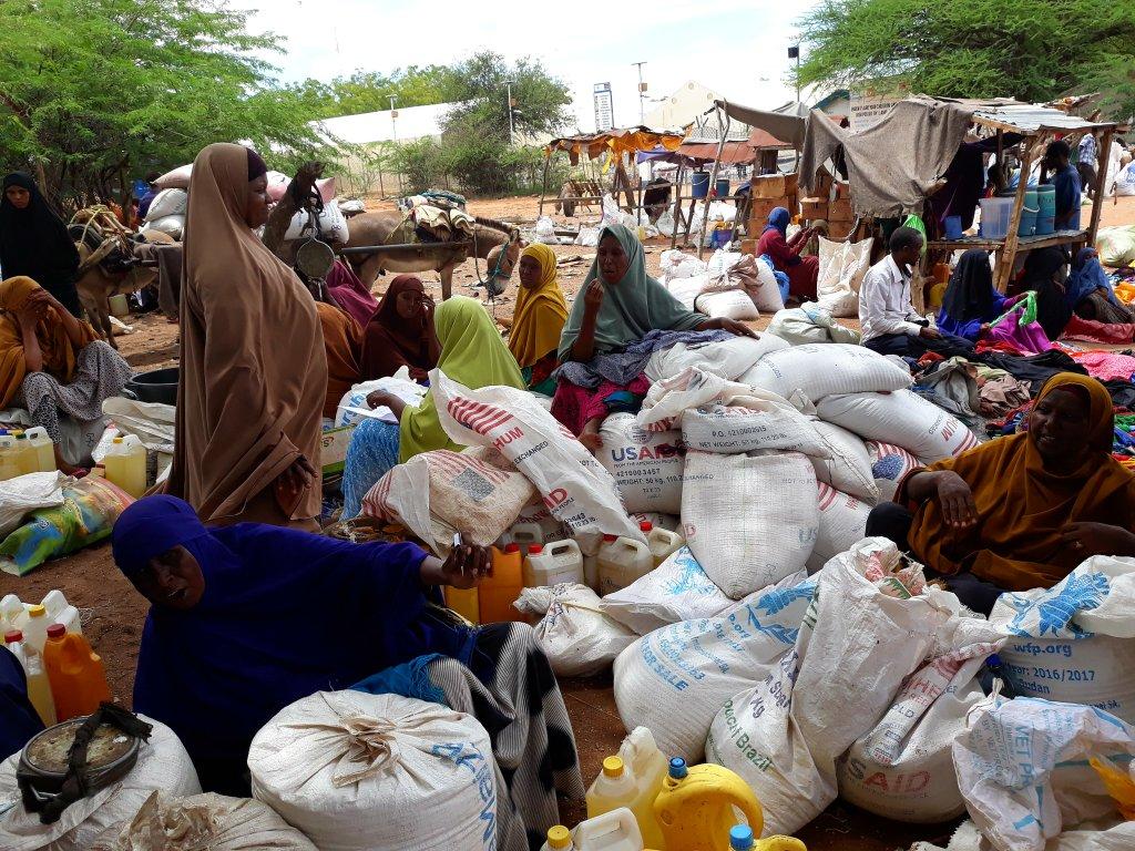 RFI/Sébastien Németh |Un des marchés du camp de Dadaab.