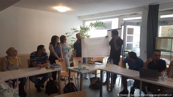إحدى  ورشات العمل التي نظمتها الجمعية الألمانية السورية للبحث العلمي