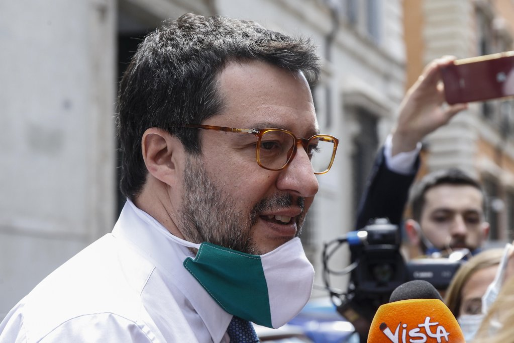 Matteo Salvini after a Senate immunity panel rejected the request to send him to trial in Rome on May 26 2020  Photo ANSAFabio Frustaci