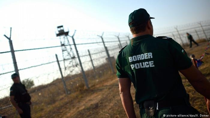 Soldiers patrol Bulgaria's border.