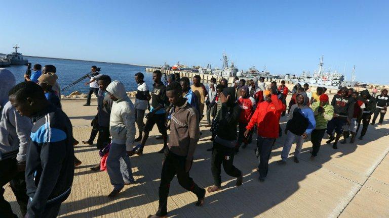 أ ف ب / أرشيف |لاجئون أفارقة في ليبيا يأملون في نقلهم إلى مكان آخر
