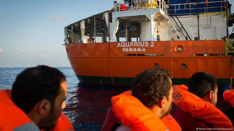 Migrant rescue vessel Aquarius 2   Credit: Maud Veith/SOS Mediterranee