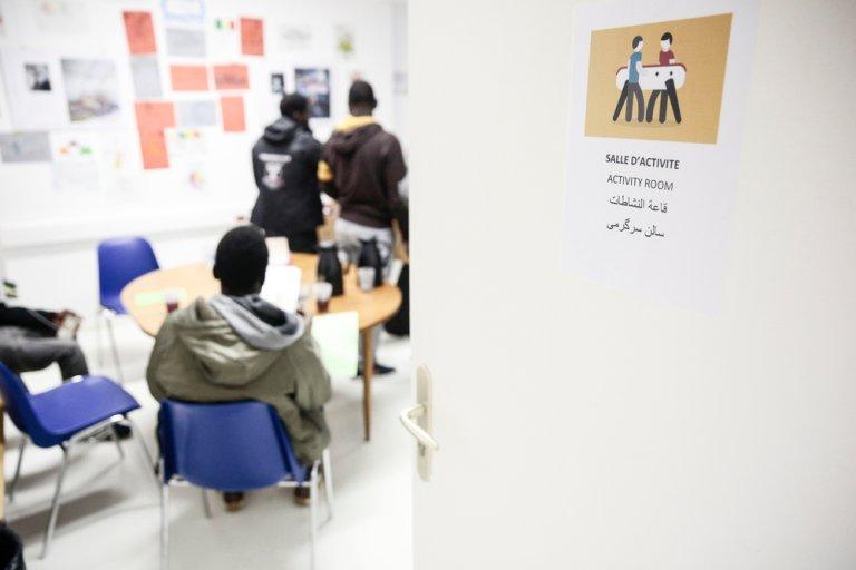 Fin 2017, MSF a ouvert un centre d'accueil de jour pour mineurs. Crédit : MSF / Antoine Kremer