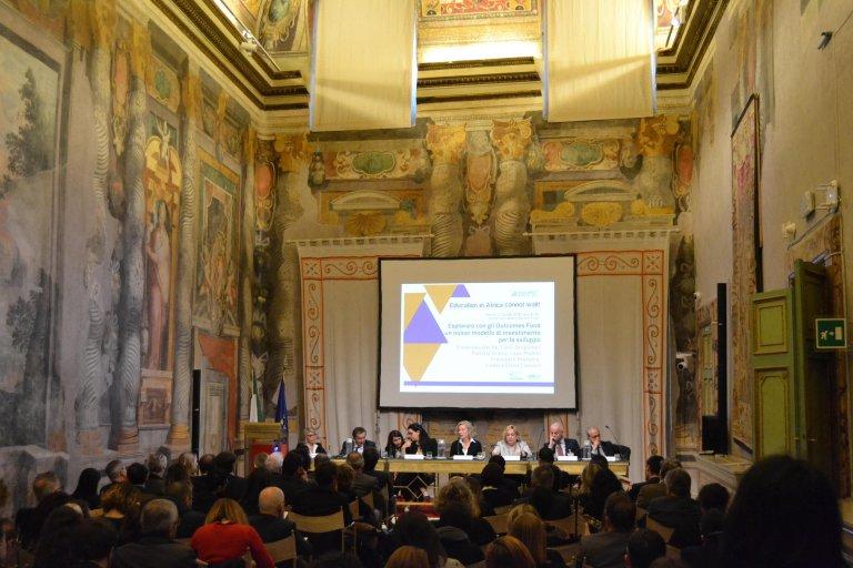 The presentation at the Italian Senate in Rome. | Photo: courtesy of Social Impact Agenda per l'Italia