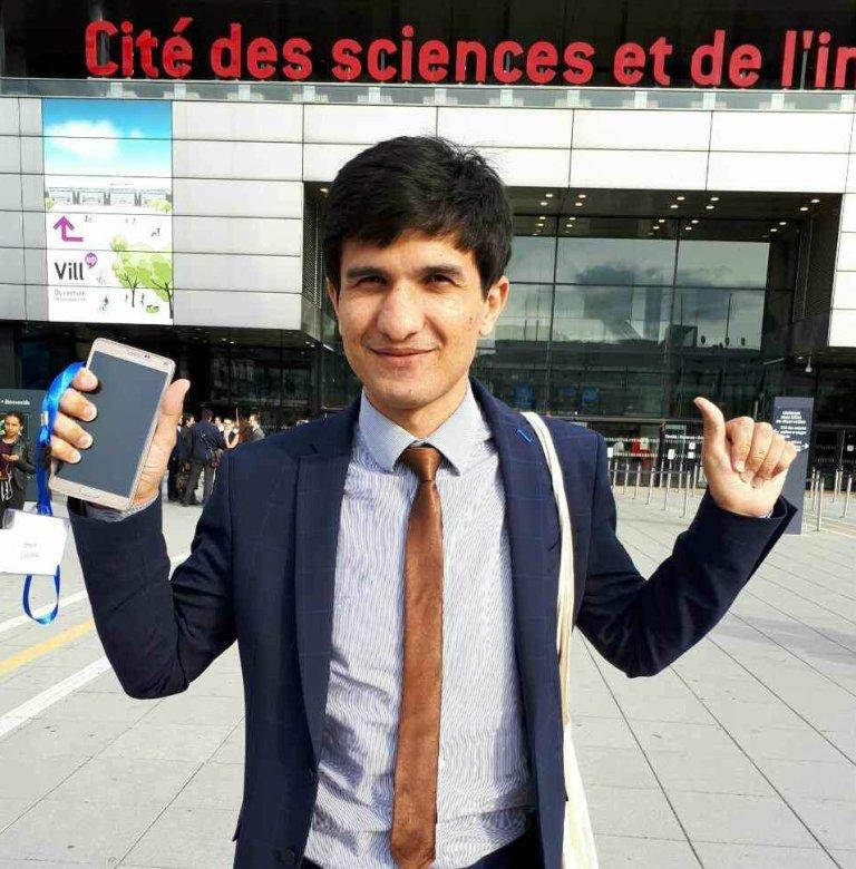 Omaid est désormais étudiant à Sciences Po. Crédit : Omaid