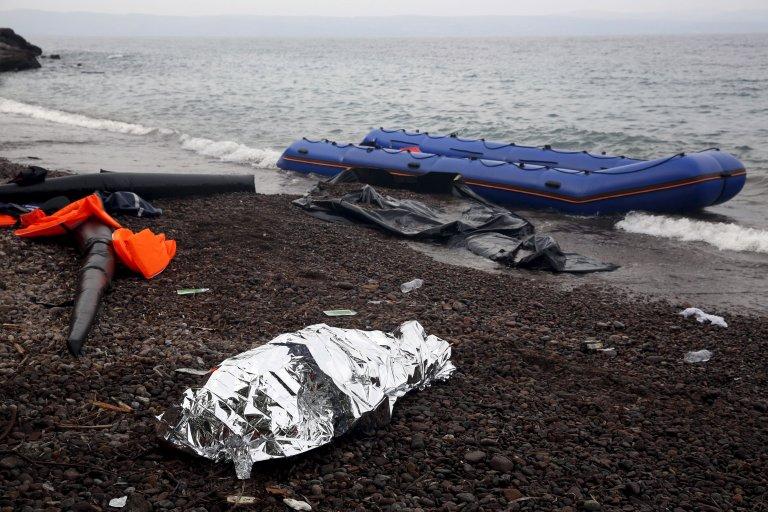 Les restes d'un naufrage en Méditerranée. Crédit : Reuters / Giorgos Moutafis
