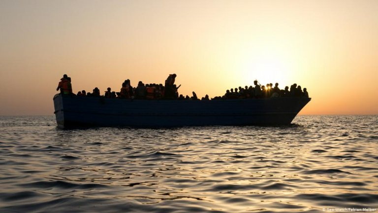 """Image from the exhibition """"SW5Y - Five Years of Civil Sea Rescue"""" 