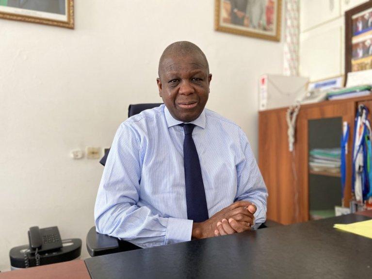 Issiaka Konaté chapeaute la Direction des Ivoiriens de l'extérieur dont la mission est de mettre en oeuvre la politique gouvernementale relative aux Ivoiriens expatriés et migrants. Crédit : Anne-Diandra Louan / InfoMigrants