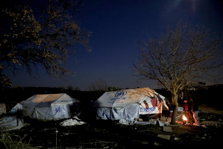 A refugee camp | Credit: Giorgos Moutafis/Amnesty International