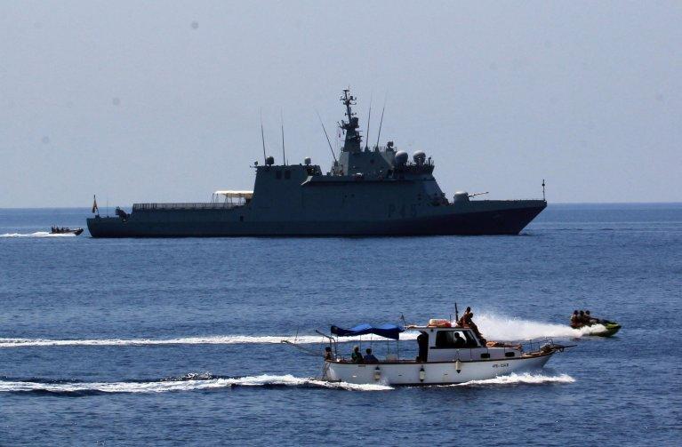 The Spanish Navy vessel Audaz in the port of Lampedusa | Photo: ANSA/Elio Desiderio