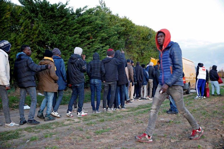 À Ouistreham, les migrants sont de plus en plus nombreux. Crédit : Reuters