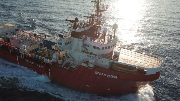L'Ocean Viking a repris la mer (photo d'archives). Crédit : SOS Méditerranée