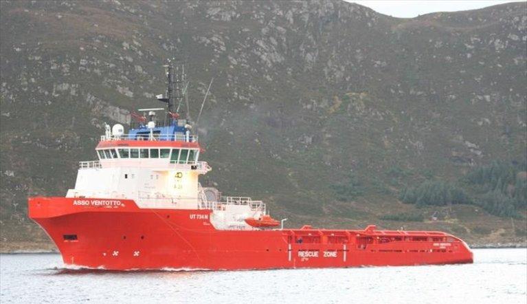 L'Asso Ventotto avait secouru une centaine de migrants au large des côtes libyennes. Crédit : Marine Trafic